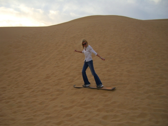 Reisebloggerin in der Wüste